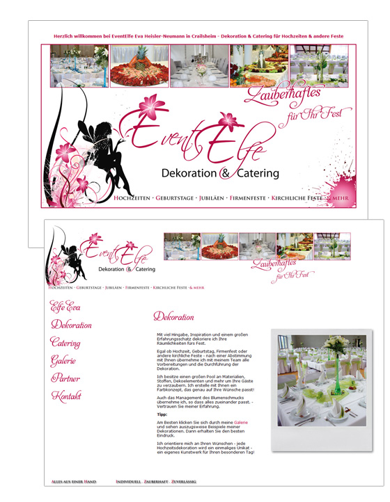 Dokoration & Catering EventElfe.de